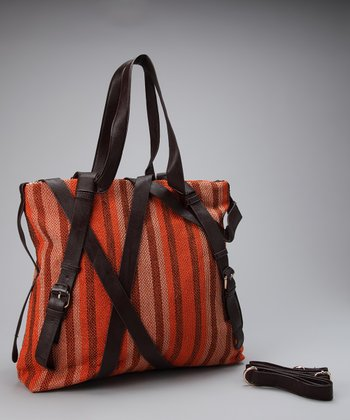 Orange Stripe Robi Shoulder Bag