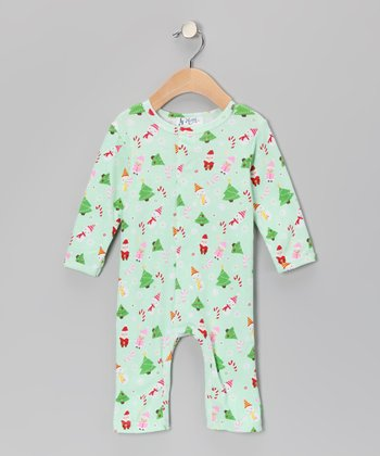 Green Star Playsuit - Infant