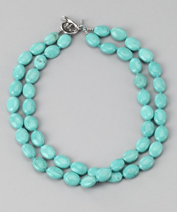 Sterling Silver & Turquoise Toggle Necklace
