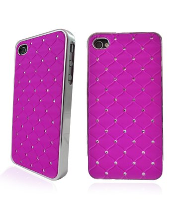 Purple Rhinestone Case for iPhone 4/4S