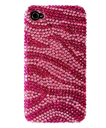 Pink Zebra Crystal Case for iPhone 4/4S
