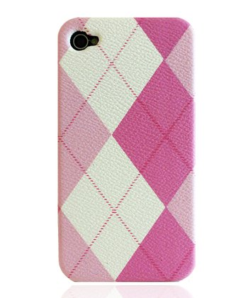 Pink Argyle Case for iPhone 4/4S