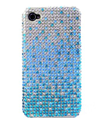Blue Cascade Crystal iPhone 4/4S Case