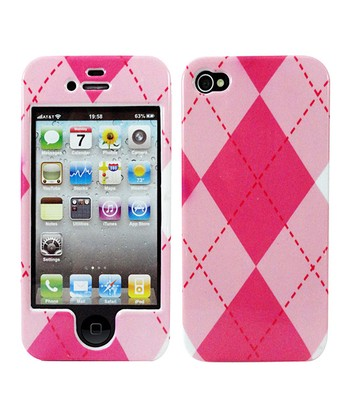 Pink & White Argyle Case for iPhone 5/5s