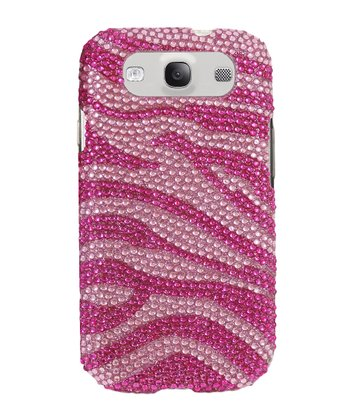 Pink Zebra Crystal Case for Samsung Galaxy S III