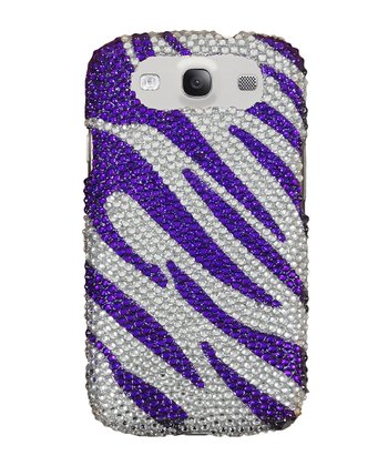Purple Zebra Crystal Case for Samsung Galaxy S III