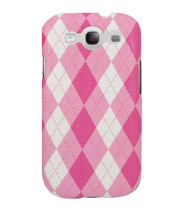 Pink Argyle Case for Samsung Galaxy S III