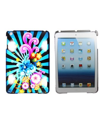 Blue & Black Flower Case for iPad mini