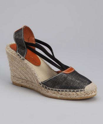 au naturel Black Arabella Wedge