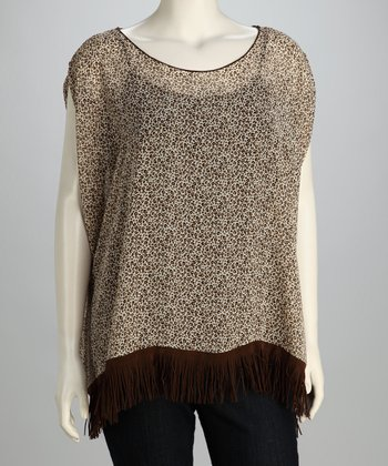 Brown Fringe Top