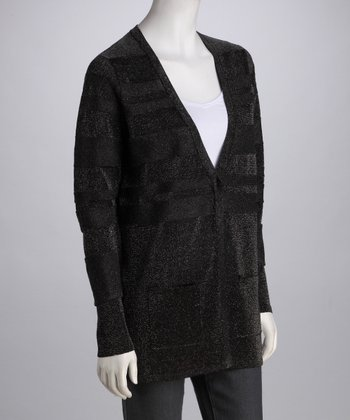 Gunmetal V-Neck Pocket Cardigan