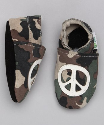 Camouflage Peace Sign Booties