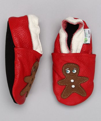 Red Gingerbread Man Booties