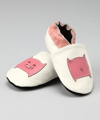 White Piggy Booties