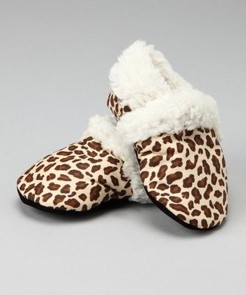 Leopard Faux Fur Booties