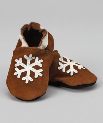 Brown Snowflake Booties