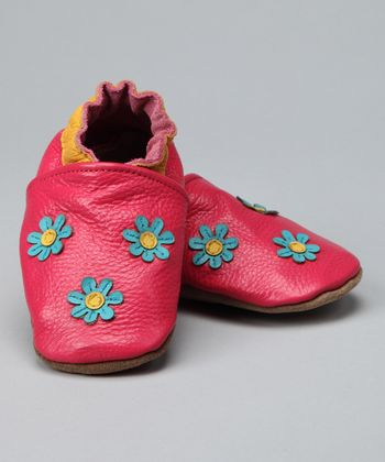 Pink Triple Flower Booties