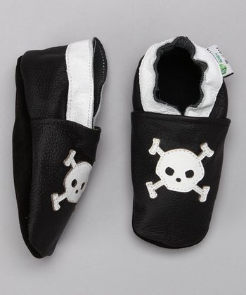 White & Black Skull Booties