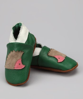 Green Hedgehog Booties