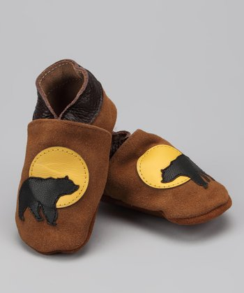 Brown Bear & Moon Booties