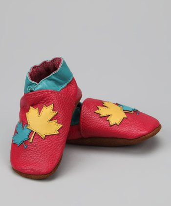Pink Leaves Booties