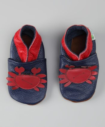 Navy & Red Crab Booties