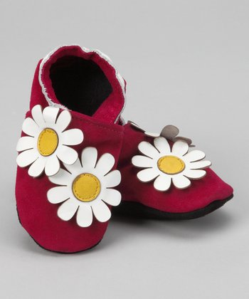 Pink Double Daisy Booties