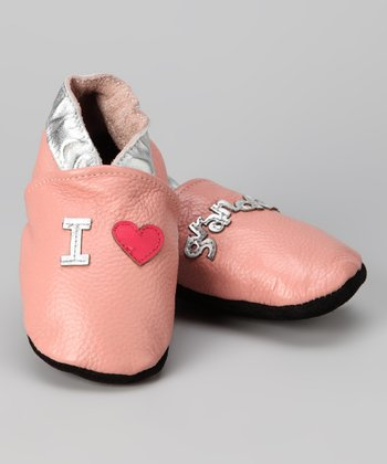 Pink 'I Love Grandma' Booties