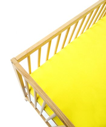 Mellow Yellow Fitted Crib Sheet