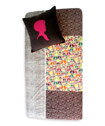 Peace Trees Patchwork Fitted Crib Sheet