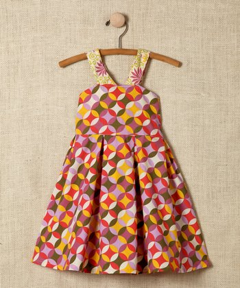 Circle Cross-Back Dress - Girls