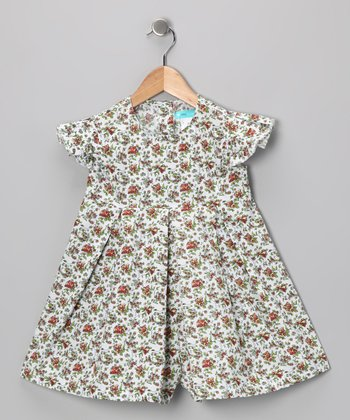 White & Red Romper - Toddler & Girls