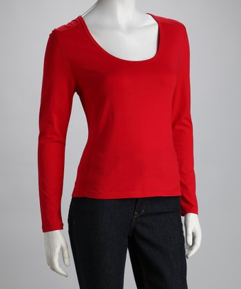 Rouge Scoop Neck Top