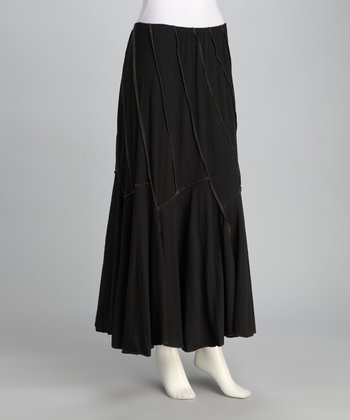 Avatar Imports Black Stitched Skirt