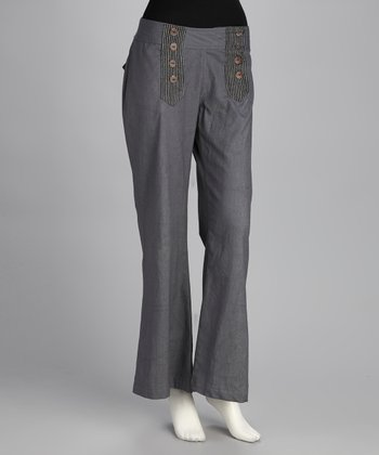 Gray Sailor Flare Pants
