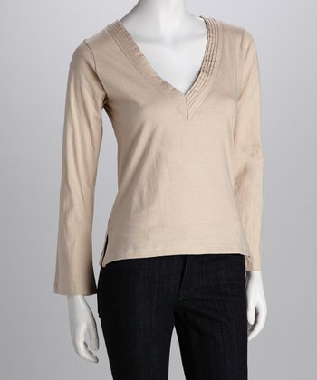 Avatar Cream V-Neck Top