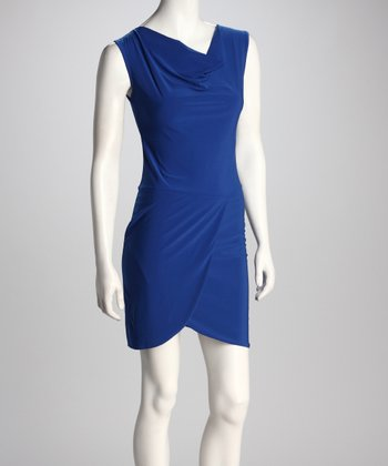 Royal Drape Neck Dress