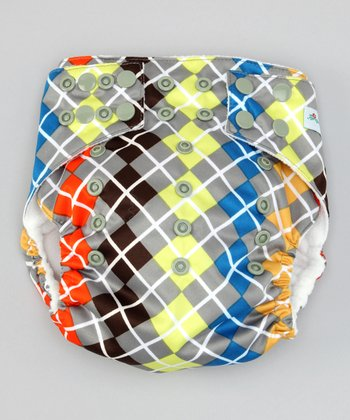 One Size Perfect Plaid Pocket Diaper
