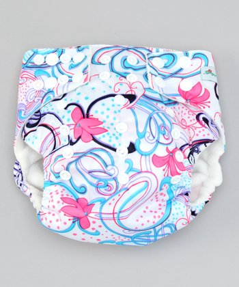 One Size Swirly Pocket Diaper