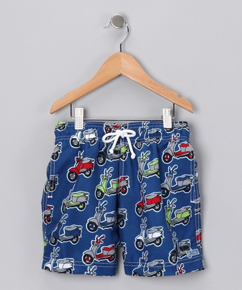 Blue Moped Swim Trunks - Infant, Toddler & Boys
