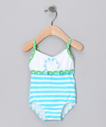Turquoise Martha's Vineyard One-Piece - Infant