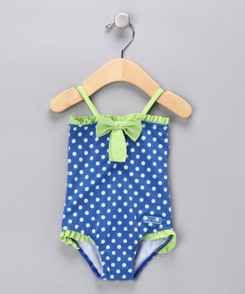 Blue Connect the Dots One-Piece - Infant
