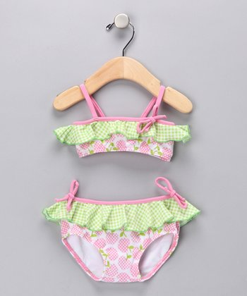 Pink & Lime Sugar Rush Bikini - Toddler & Girls