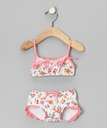 Pink La Vie en Rose Bandeau Bikini - Infant & Toddler