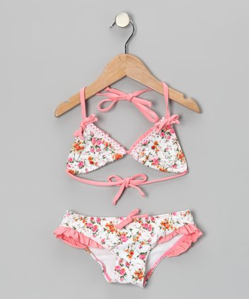 Pink La Vie en Rose Triangle Bikini - Toddler & Girls