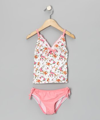 Pink La Vie en Rose Tankini - Toddler