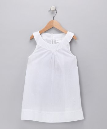 White Yoke Dress - Toddler & Girls