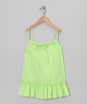 Green Swing Tunic - Toddler & Girls