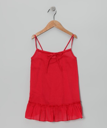 Red Swing Tunic - Toddler & Girls