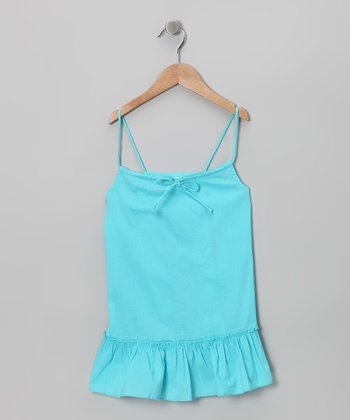 Turquoise Swing Tunic - Toddler & Girls